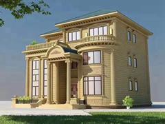 睿婕占地面积150平方3层轻钢别墅户型