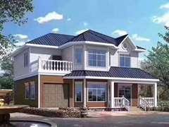 轻钢别墅占地面积130平方2层户型