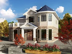 220平方美式风格轻钢别墅户型